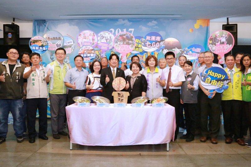 台南市長賴清德歡迎大家來台南參加七股海鮮節,過不一樣的暑假。(圖/台南市政府提供)