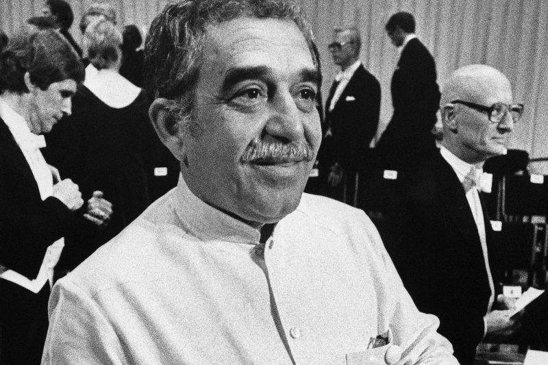 哥倫比亞文學巨匠馬奎斯獲得1982年諾貝爾文學獎。(美聯社)