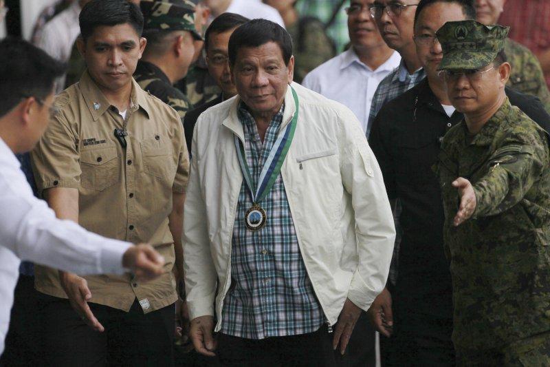 菲國總統杜特蒂。(美聯社)