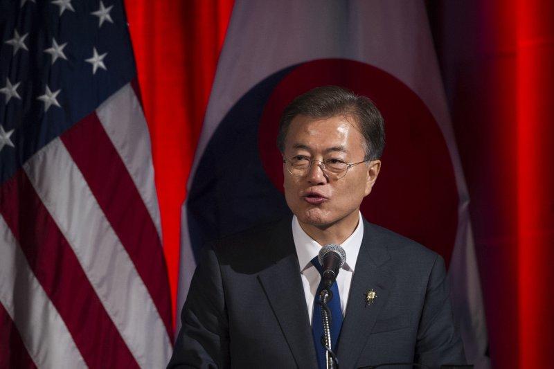 南韓總統文在寅上任後首度訪美(AP)