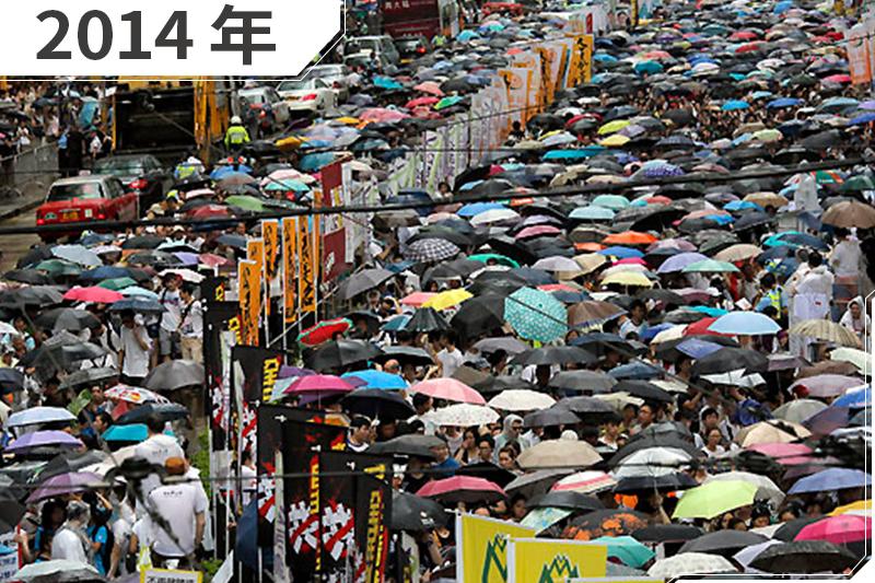 2014年,香港,雨傘革命(AP)