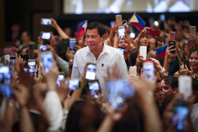菲律賓總統杜特蒂(Rodrigo Duterte)。(AP)