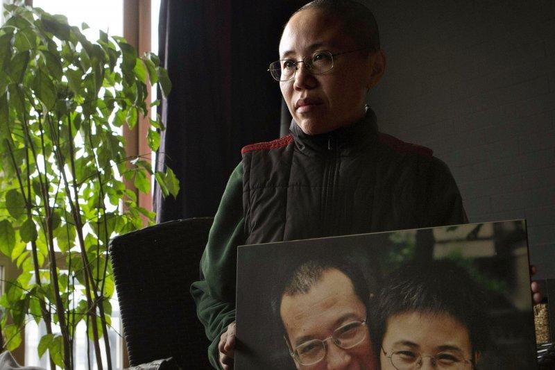 諾貝爾和平獎得主、中國異議人士劉曉波的妻子劉霞(AP,資料照)
