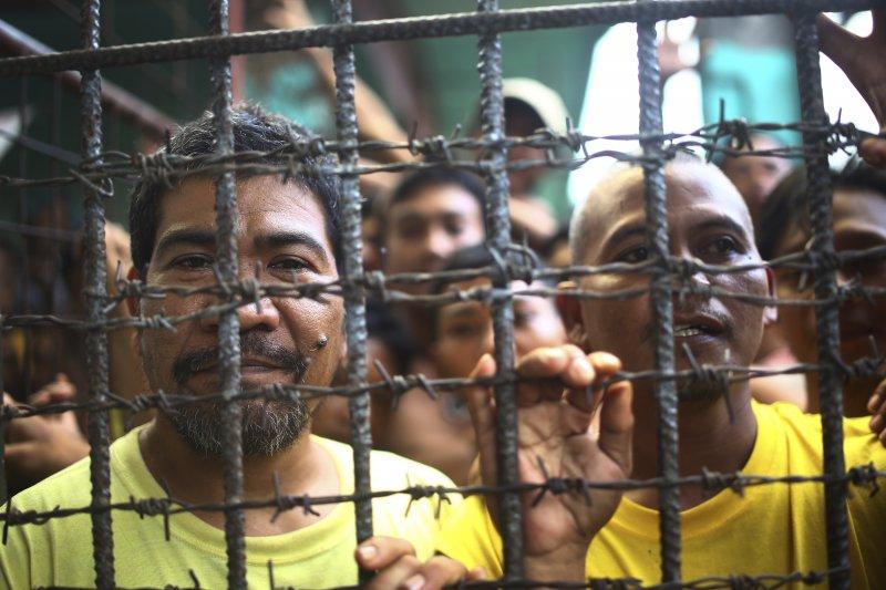 菲律賓監獄人滿為患,原本只能關4人的牢房,現在卻關了159人(資料照,AP)