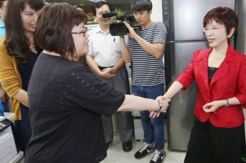 國民黨首任女黨魁洪秀柱,在6月底正式卸下黨主席職務。(BBC中文網)