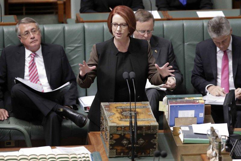 澳洲前總理吉拉德稱,自己在擔任總理期間曾有心理焦慮狀態,認為川普的推文透露出類似狀況(AP)