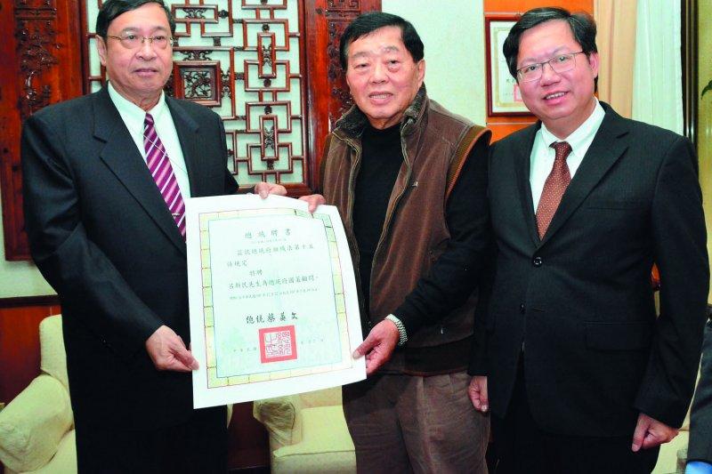 陳雪懷(左)駐澳門,蔡政府有意重新建立與中國溝通管道。(桃園市政府提供)