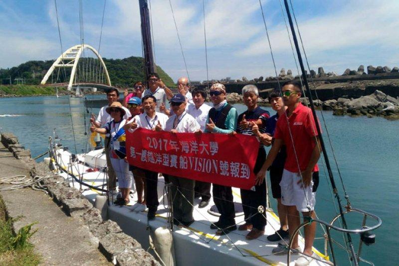 海洋大學帆船隊生力軍報到,未來爭取向國際賽進軍。(圖/張毅攝)