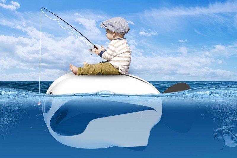除了空中的無人機之外,現在也推出水中的無人機,而且模樣超級可愛!(圖/BIKI@facebook)
