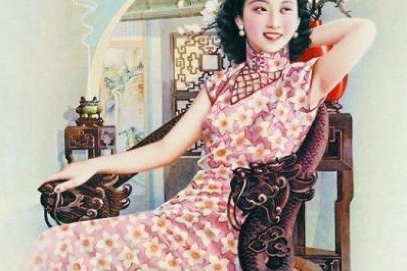 旗袍端莊大方又能完美展示女性身體曲線。(圖/騰訊文化提供)