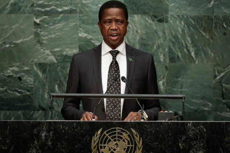 尚比亞總統倫古(AP,資料照)