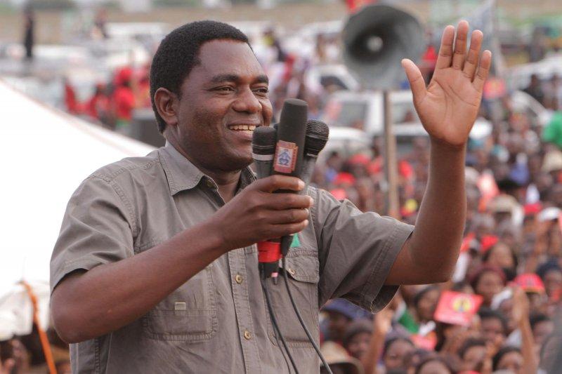 尚比亞在野黨「國家發展聯合黨」黨魁希奇萊馬(AP)