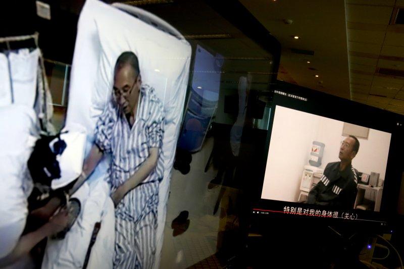 中國民主運動領袖劉曉波肝癌末期病危。(AP)