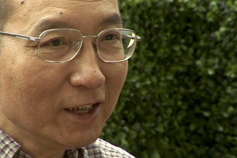 中國民主運動領袖劉曉波,攝於2008年6月3日(AP)