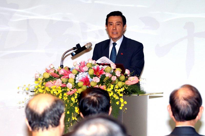 20170707-前總統馬英九上午出席77抗戰場。(蘇仲泓攝)