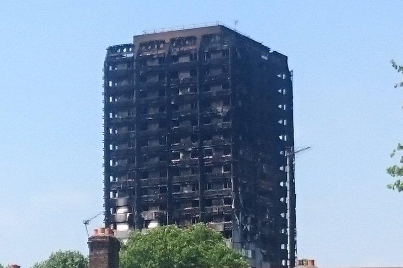穆施臺指出,導致這場悲劇的,是菁英階級對世界勞工的輕蔑,在大火前,Grenfell大樓居民曾多次向區政府報告大樓的安全問題,而他們的擔懮一次又一次完全被漠視。 (白曉紅攝)
