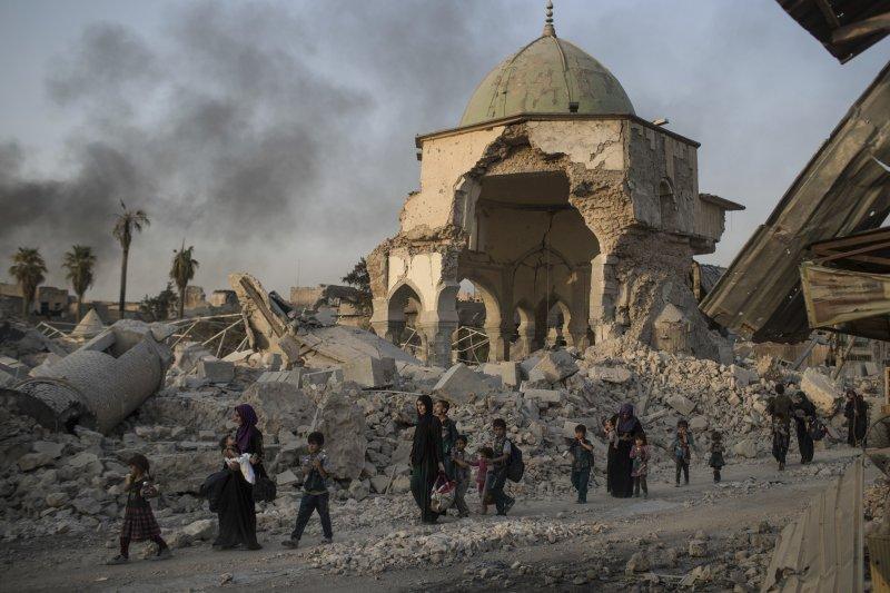 伊拉克政府軍收復「伊斯蘭國」在該國最重要的據點摩蘇爾(Mosul)(AP)