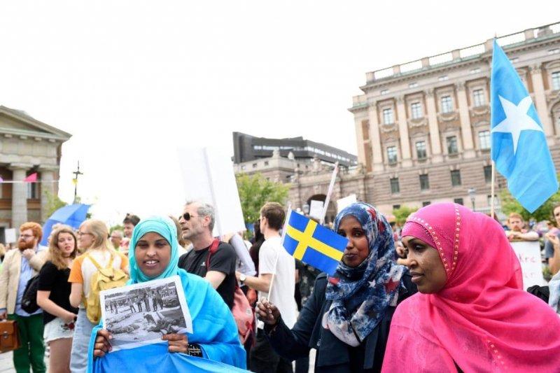 許多中東難民與非洲難民都希望能在瑞典安身立命(AP)