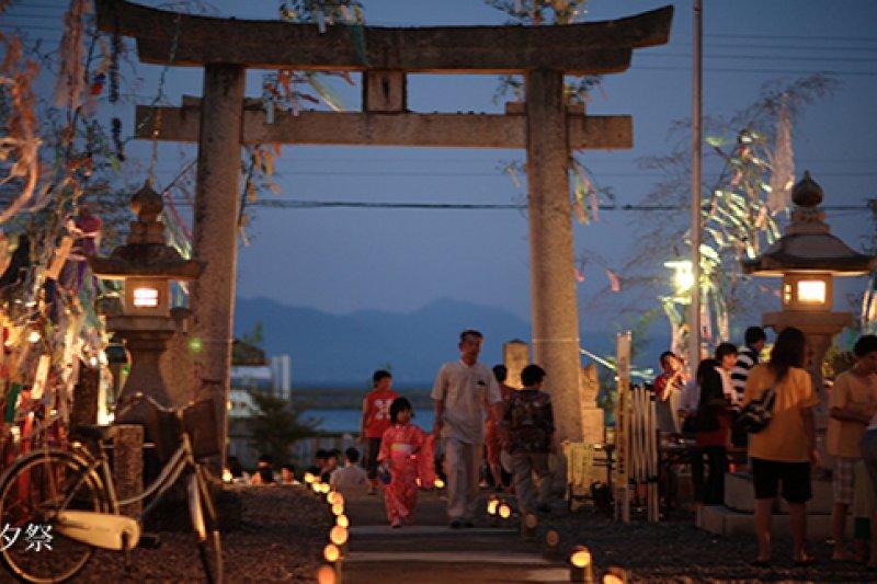 位於大島的中津宮每年七夕會舉辦祭典。(翻攝宗像大社官網)