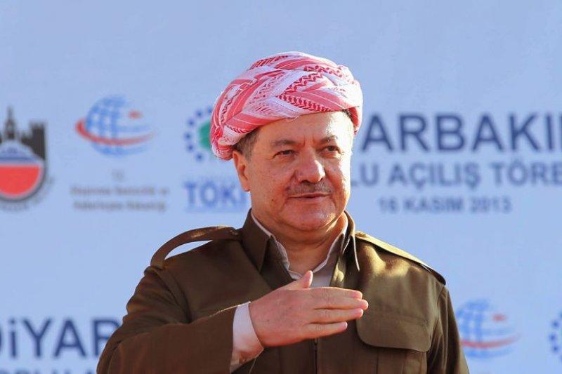 伊拉克庫德族自治區政府(KRG)主席巴爾札尼(Massoud Barzani)。(美聯社)