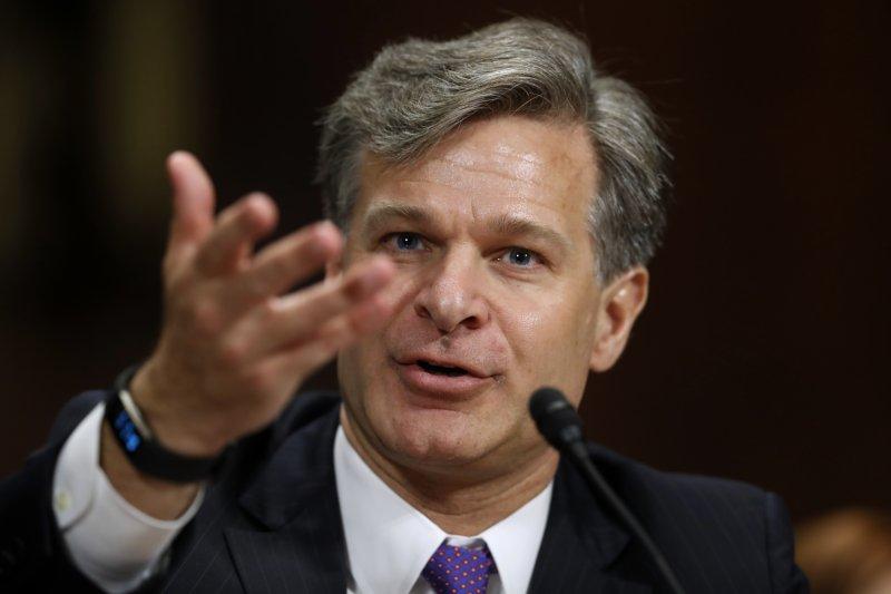 美國總統川普提名的聯邦調查局(FBI)新局長瑞伊(Christopher Wray)12日出席聯邦參議院司法委員會的任命聽證會。(AP)