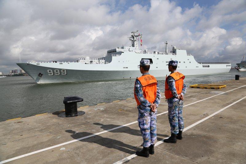 中國駐吉布地軍事基地:中國解放軍海軍官兵啟程前往(AP)
