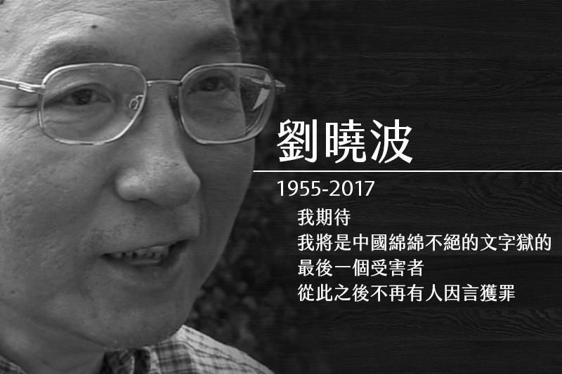 中國諾貝爾和平獎得主、《零八憲章》起草人劉曉波肝癌病逝。(美聯社,風傳媒製圖)