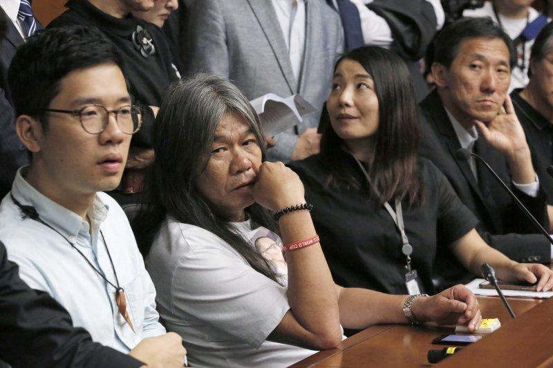 香港高等法院14日宣判,撤消(左起)羅冠聰、梁國雄、劉小麗、姚松炎4名特區立法會議員資格(AP)