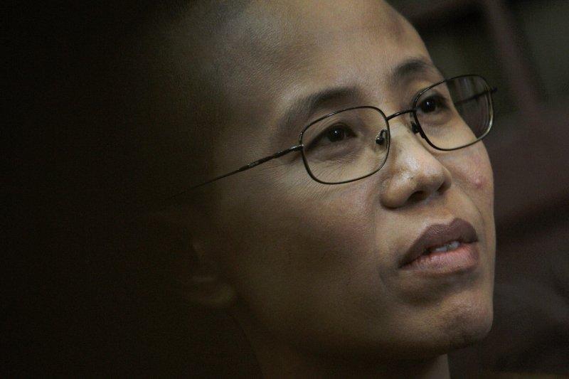 劉霞攝於2010年9月28日(AP)