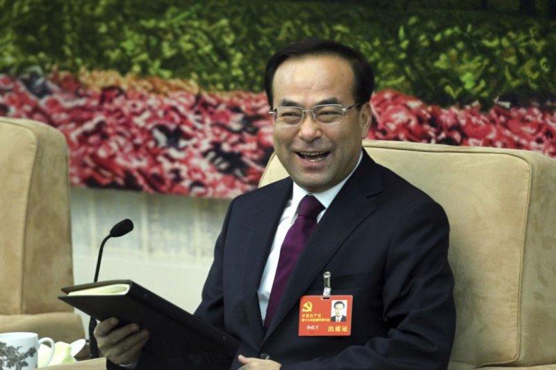 2012年11月9日,中共吉林省委書記孫政才在中共十八大的一次會議上。不久後他被任命為重慶市委書記。(美國之音)