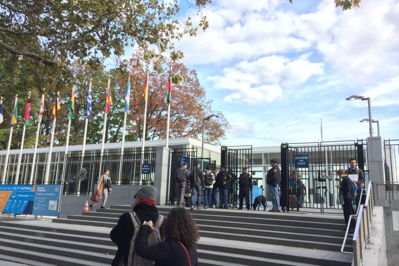 聯合國紐約總部:入內參觀入口(簡恒宇攝)