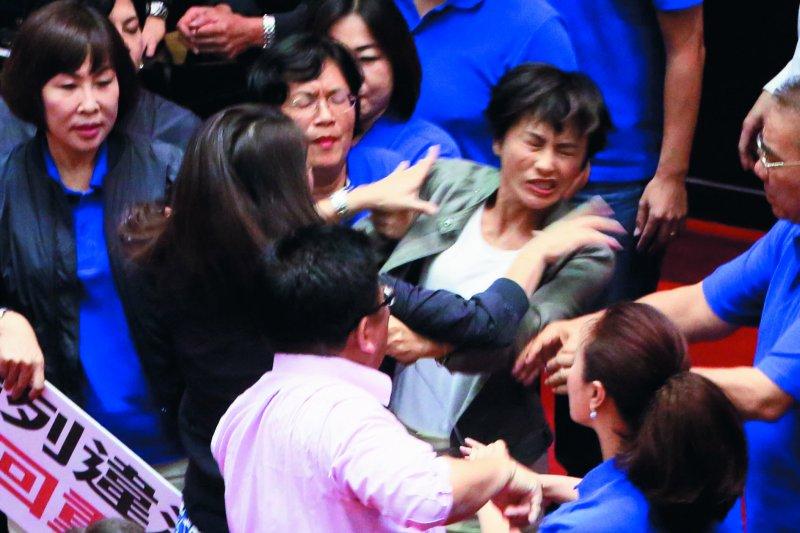許淑華最近在立法院,對邱議瑩的驚天一掌,使她聲名大噪。(柯承惠攝)