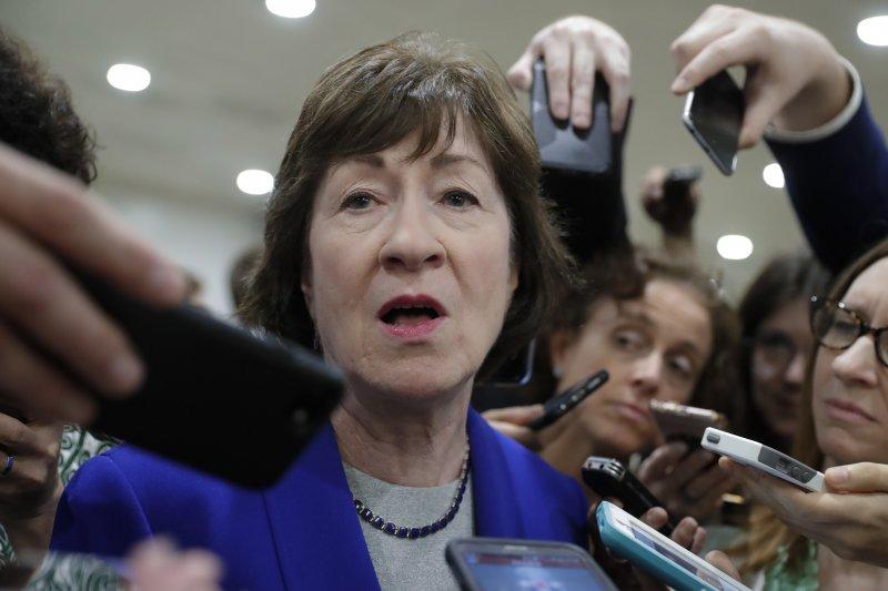 美國緬因州聯邦參議員柯林斯(Susan Collins)反對共和黨「廢除並取代」歐巴馬健保的新法案(AP)