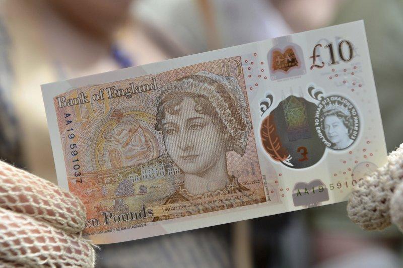 英國著名小說家珍.奧斯汀的肖像登上10英鎊新鈔(AP)