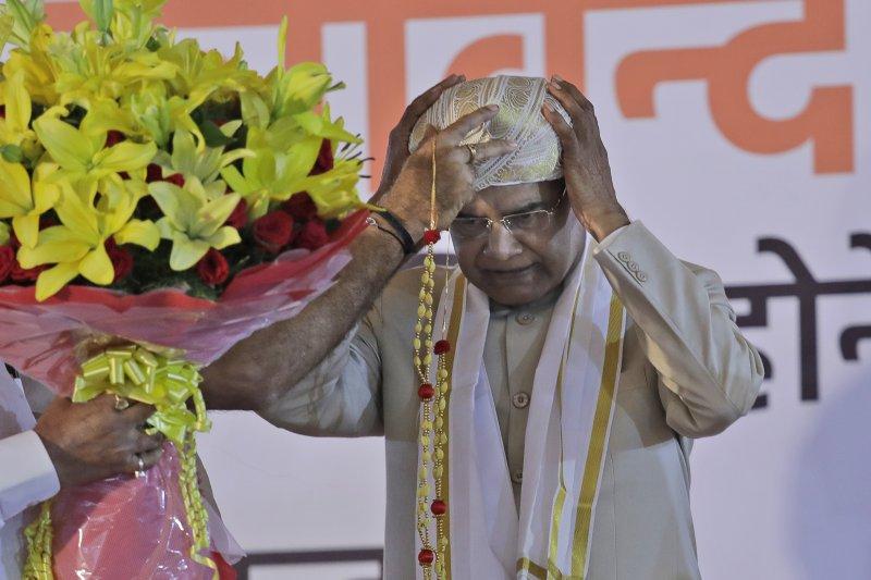 印度新總統柯文德是印度第2位賤民種姓的總統(AP)