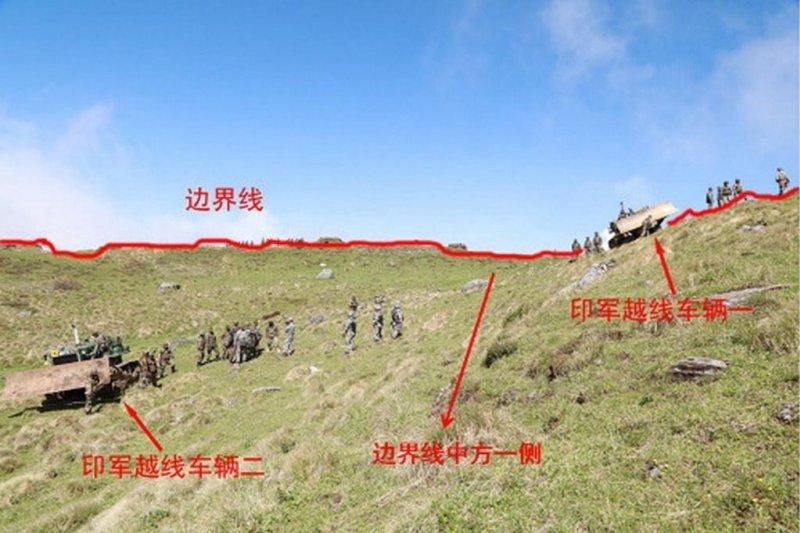 印度與中國在洞朗高原對峙(取自網路)