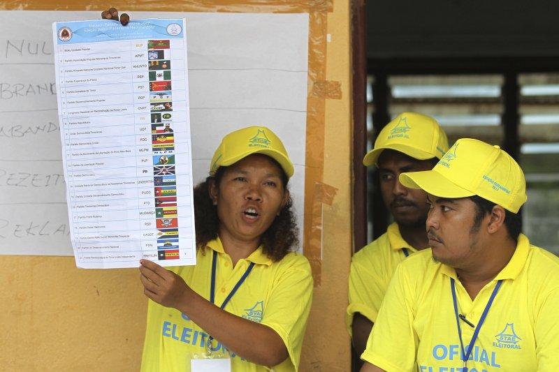 東帝汶國會大選:兩大政黨Fretilin和CNRT可望組成聯合政府(AP)
