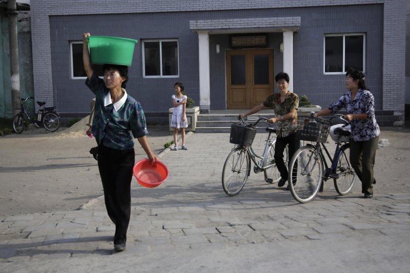 北韓人民生活日常。(美聯社)