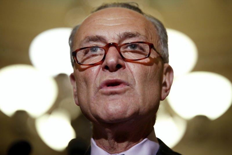 聯邦參議院民主黨領袖舒默表示將帶領民主黨參議員抵抗共和黨提出的健保法案(AP)