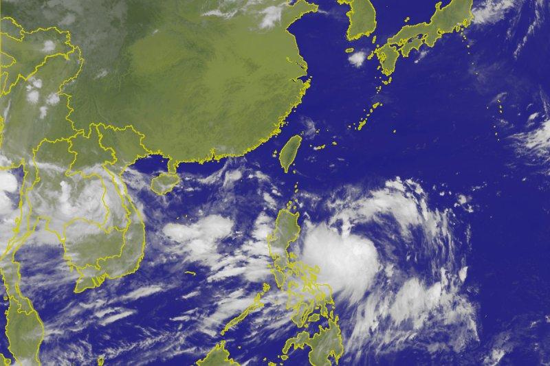 第九號颱風「尼莎」在菲律賓東方海面形成。(取自中央氣象局網站)