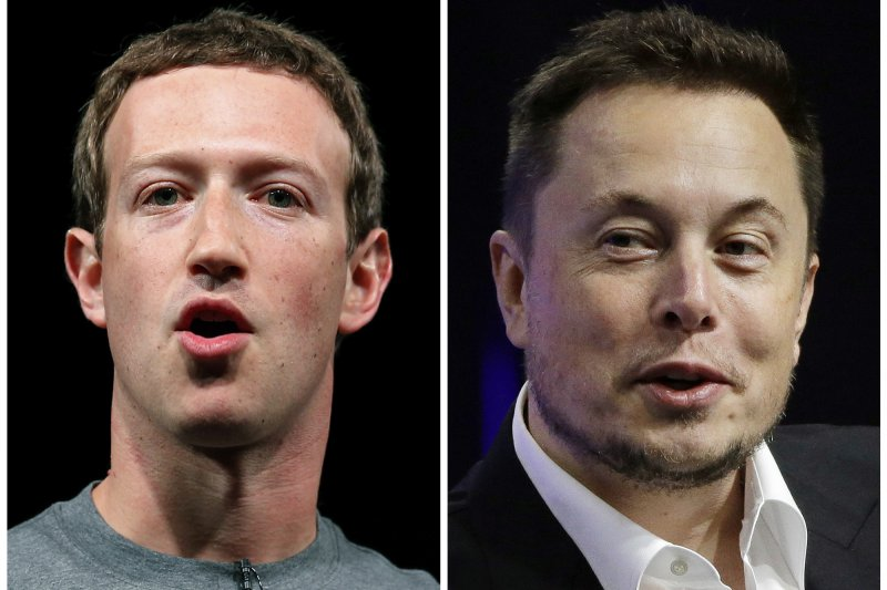 科技業大亨祖克柏和馬斯克在網路上打起口水戰,爭論人工智慧發展對人類的利弊與危險。(美聯社)