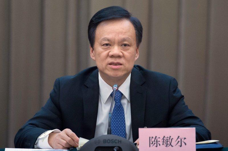 中國重慶市新任市委書記陳敏爾(AP)