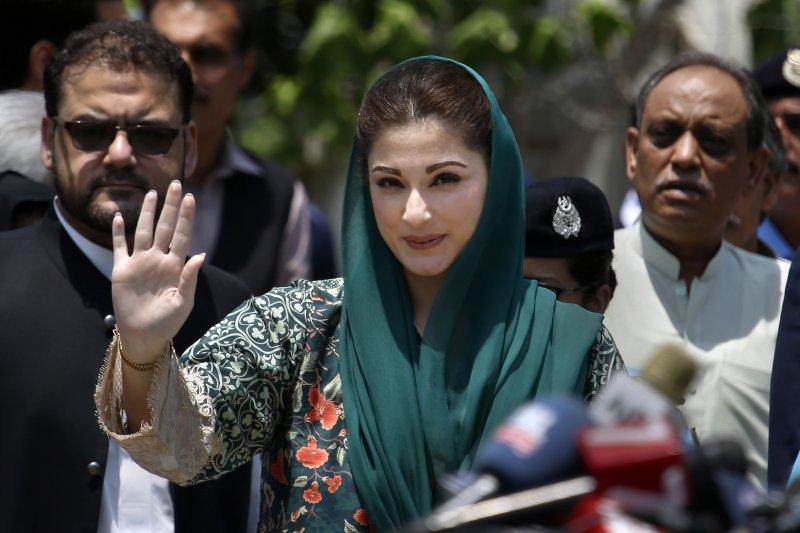 巴基斯坦總理夏立夫的女兒瑪麗安(Maryam Nawaz)(AP)