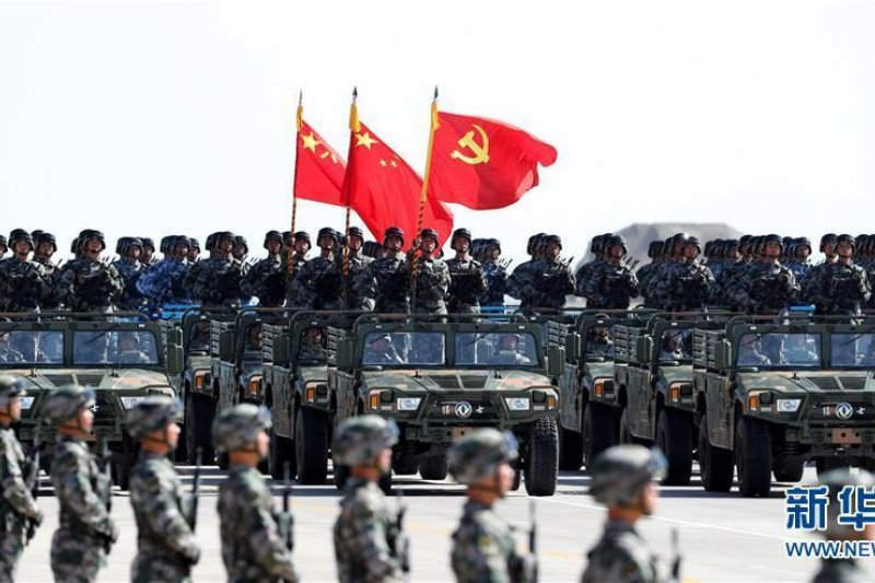 中國人民解放軍慶祝建軍90周年大閱兵(取自網路)