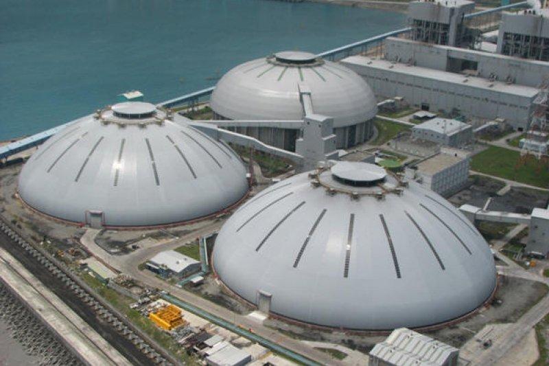 花蓮和平電廠,室內鋼構球形煤倉(和平電廠)