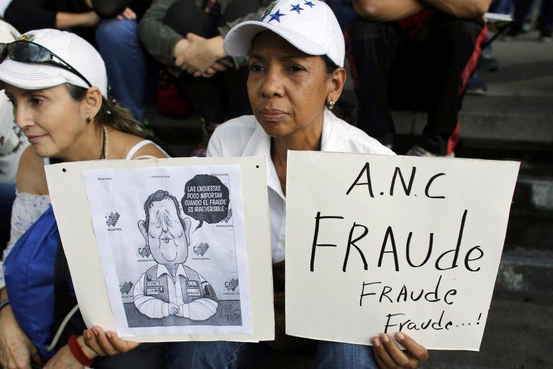 委內瑞拉制憲選舉:反政府ˋ民眾示威抗議(AP)