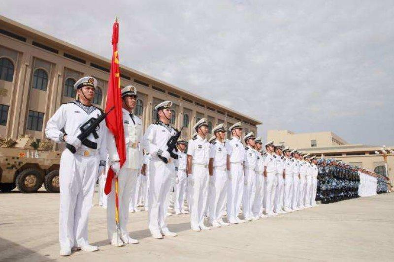 中國駐吉布地基地1日進行正式駐軍儀式。(取自網路)