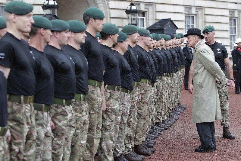 菲利普親王最後一個行程是出席英國皇家海軍的慈善活動。(美聯社)