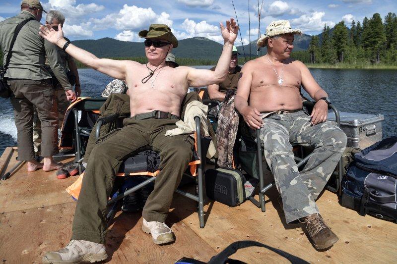 俄羅斯總統普京度假期間享受大自然生活(AP)
