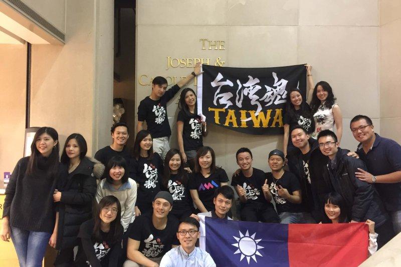 Christine與Kellogg的台灣同學們參加亞洲美食節。(圖/Sabina提供)